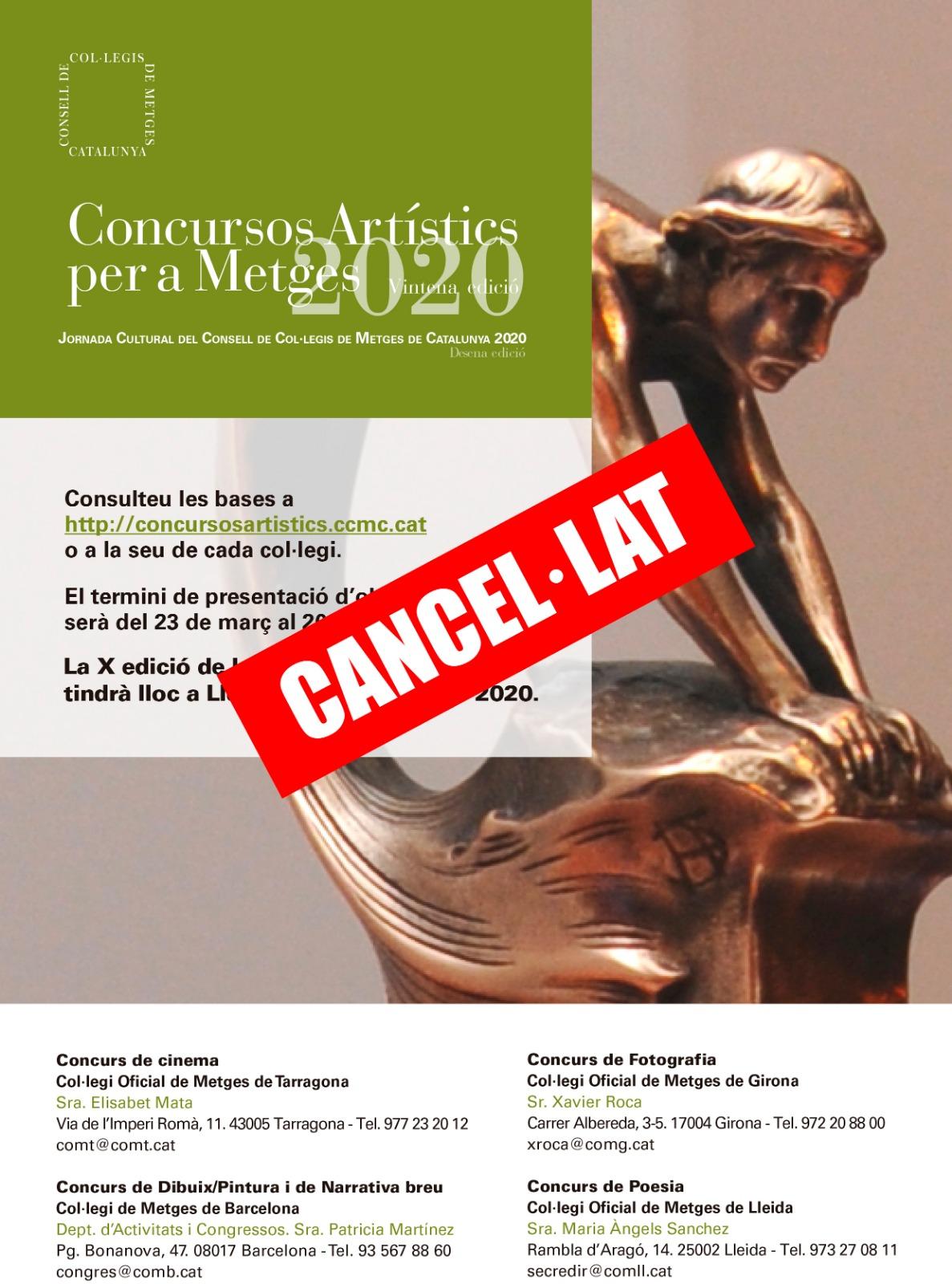 Cancel·lació Concurs Artístic